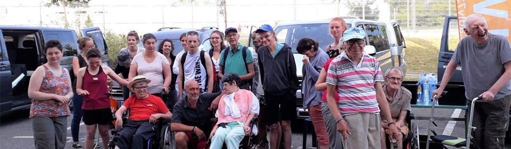 UDAPEI Savoie: Photo de groupe à Bellenaves, 2019